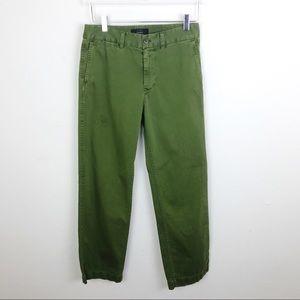 J. Crew Boyfriend Chino Army Green Utility Pants